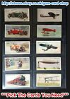 ☆ Wills - Speed (Title in White) 1930 (F) *Pick The Cards You Need*