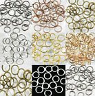 New 4mm/5mm/6mm/7mm/8mm/9mm/10/12mm Jump Rings Open Connectors Jewelry Finding