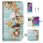Samsung Galaxy Note 5 Flip Wallet Case Cover! P1869 Starfish