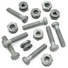 M8 x 40mm SADDLE BOLTS + SECURITY SHEAR NUT D SECTION PALISADE ANTI VANDAL