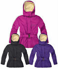 Girls Padded Hooded Coat Kids Winter Jacket Faux Fur Lined New Age 3 - 12 Years