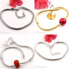 Women Lady 2/5PCS Gold/Silver/White K Plated Copper Chain Bracelet Jewelry 3mm