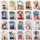 Womens Girls Casual Summer Graphic Printed T-Shirt Short Sleeve Blouse Tops Tee