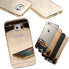 Ultra-Thin Aluminium Alloy Bumper Metal Frame Shiny Mirror Bling Back Case Cover