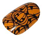 HALLOWEEN Party Dress Up Fancy Nail Wraps Pumpkin Soup Spooky scary CHIX NAILS