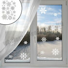 Christmas Window Snow Flake Stickers Xmas Winter Decorations Transparent