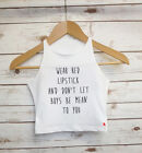 Wear Red Lipstick Slogan Crop Top - Girl Power - Slogan Cropped Vest - Tank top