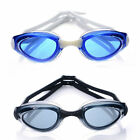 2pcs Swimming Goggles Blue Gray Training Recreation Men Anti Fog Adjustable