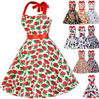 FLOWER Vintage 50's dress Swing Pinup Housewife Party Dress Plus Size