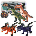 REMOTE CONTROL DINOSAUR WALKING TOY ROBOT SOUND LIGHT KIDS MOVING RADIO ELECTRIC