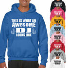 THIS IS WHAT AN AWESOME DJ LOOKS LIKE ADULT/KIDS HOODIE -