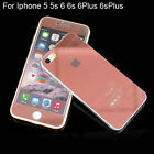 Rose Gold Tempered glass film Front&Back Screen Protector for iPhone 5 6 6S Plus