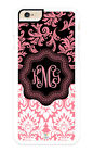 Personalized Monogram iPhone Case Premium Protective Cover Beautiful Pink Damask