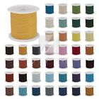 10m/ Roll 52 Colors Leather Cord Wire Thong Bracelet Thread Jewelry 1/1.5/2/3mm