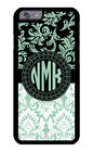 Personalized Monogram iPhone Case Protective Cover Floral and Damask Pattern