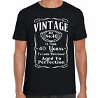 grabmybits - Vintage 40th Birthday T Shirt - Funny, Gift, 40 Years Old