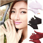 SH US Women Girl Short Gloves Wedding Party Dress Stain UV Sun Driving Glove NEW
