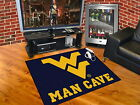 West Virginia Mountaineers Man Cave Area Rugs Choose from 4 Sizes