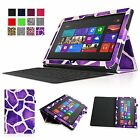 "Leather Case Cover W/ Keyboard Holder for Microsoft Surface RT/2 10.6"" Windows 8"
