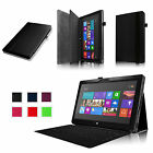 "Leather Case Cover For 10.6"" Microsoft Surface RT/RT 2 Tablet Bluetooth keyboard"