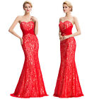 New Women Sexy Lace Bridesmaid Formal Long Cocktail Party Gowns Wedding Dresses