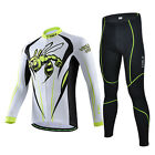 Men Bumblebee Cycling Jersey Set Bike Long Sleeve Jersey 3D Silicone Padded Pant
