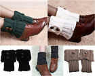 YS LADY Winter Leg Warmer Socks Button Crochet Knit Boot Socks Cuffs Xmas Gift