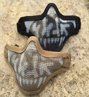 NEW AIRSOFT MESH SAFETY LOWER FACE PROTECTION MASK WHITE SKULL DESIGN-BLACK-TAN