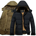 fashion Men Warm Hooded Parka Winter Thicken Fleece Coat Outwear Jacket Overcoat