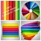 "100% Cotton fabric Solid Colors 45"" Width Quilting Sewing Tablecloths Sold BTY"