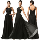Sexy Women Chiffon Long Wedding Formal Gown Cocktail Bridesmaid Evening Dresses