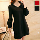 New Maternity Clothing Long Sleeve Dress Pregnant Women Autumn Crewneck Dress