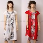 High Quality Fashion Casual Loose Fitting Gown Dress 100% Cotton M XL