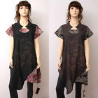 CX078 High Quality Fashion Casual Loose Fitting Gown Dress 100% Cotton M L