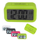 1PC LED Digital Snooze Alarm Clock Light Control White Backlight Time+Calendar