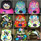Splash snapback caps, dope bling flat peak baseball fitted hats, hiphop NY fresh
