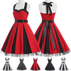 Women 50'S 60'S DRESS Vintage Swing Pinup Retro  Cocktail Party Gothic Dresses