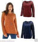 NEW LADIES BAGGY BOYFRIEND CHRISTMAS GLITTER JUMPER SWEATER PLUS SIZE 8-38 UK