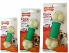 NYLABONE DURACHEW DOUBLE ACTION DURABLE BACON DOG CHEW TOY NYLON HEALTHY TEETH