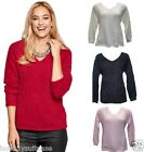 NEW LADIES WOMANS FLUFFY SOFT TOUCH WINTER WARM JUMPER SWEATER SIZE 10-36 UK