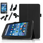 7in1 Bundle Folio Stand Cover Case for Amazon Fire 7 Tablet (5th Gen 2015 Model)