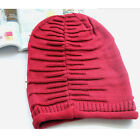 Winter Womens Mens Knitted Beanie Slouch Hat Pretty Plicate Baggy Woven Ski Cap