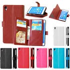 Flip Cover Stand Case Luxury  Leather Wallet Card Holder For Sony Xperia Phone