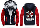 Resident Evil Umbrella Big Yards Plus Thick Velvet Hooded Cardigan Sweater M-4XL