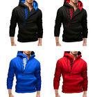 2015 Hot! Slim Pullover Men Leisure Hooded Side Zipper Long Sleeve Outwear Coats
