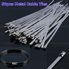 Hot 50Pcs Various Size Stainless Steel Metal Cable Ties Tie Zip Wrap Exhaust