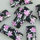 Black Pink White Flower Fashion Design False French Acrylic Nail Tips New