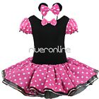 Baby Girls Minnie Mouse Polka Dot Leotard Ballet Tutu Princess Dress Up Costume