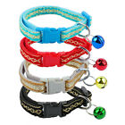 12pcs/lot Shining Small Dog Cat Kitten Collar with Bell for Chihuahua Teddy