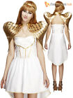 Ladies Deluxe Fever Sexy White Angel Fancy Dress Costume Christmas Womens Xmas